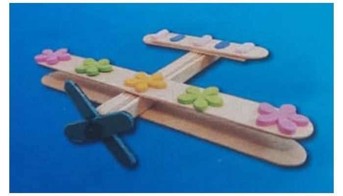 how to make airplane from popsicle sticks
