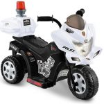 Black and White Lil Patrol Ride-on Police Motorcycle (6V)