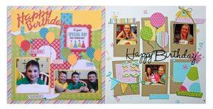 Childrens Birthday Scrapbook party