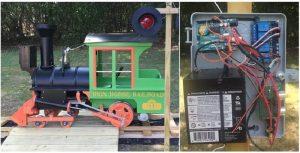 DIY backyard train