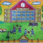 Drawing for kids - school painting