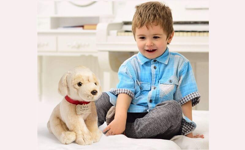 FAO Schwarz Golden Labrador Puppy Dog Plush Toy