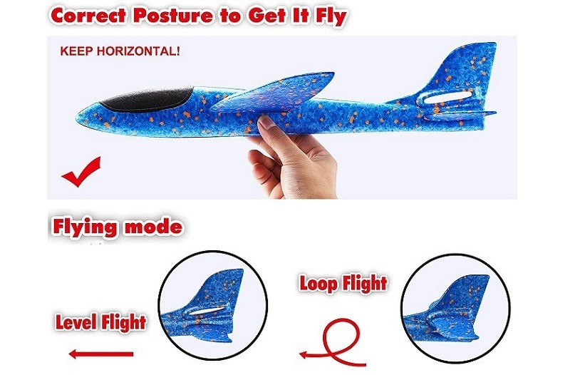 how to fly foam plane