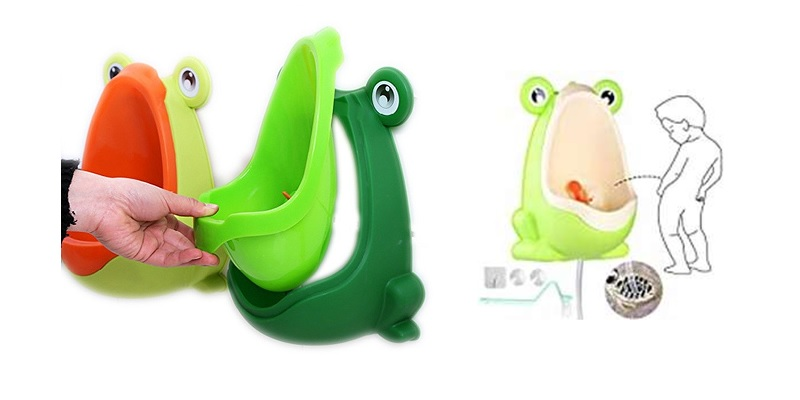 Foryee Cute Frog Potty Training Urinal for Boys with Funny Aiming Target