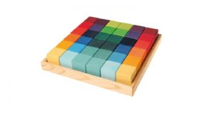 Grimm's set of 36-wooden building cubes