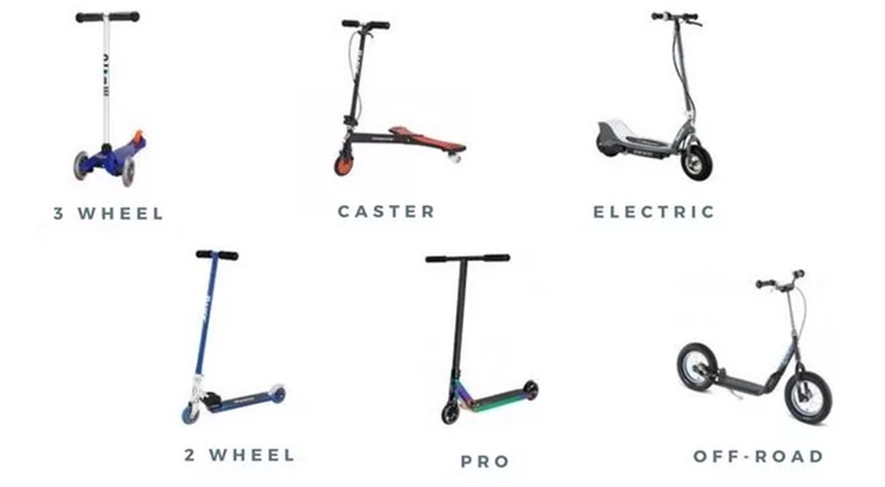 kick scooter types