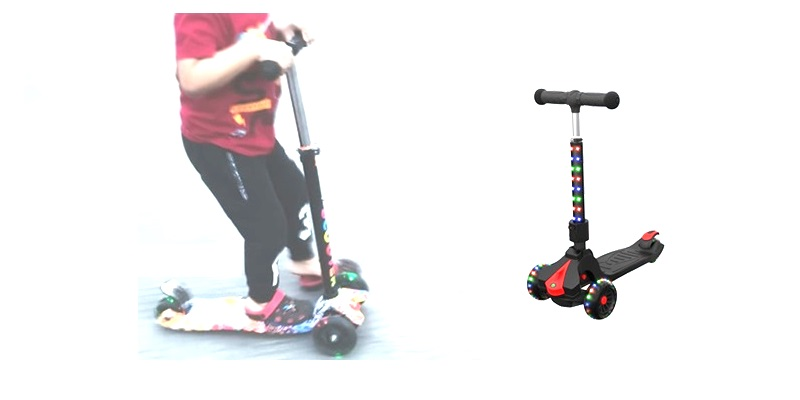 kids kick scooter with lights
