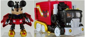 Mickey mouse becomes Transformer toy