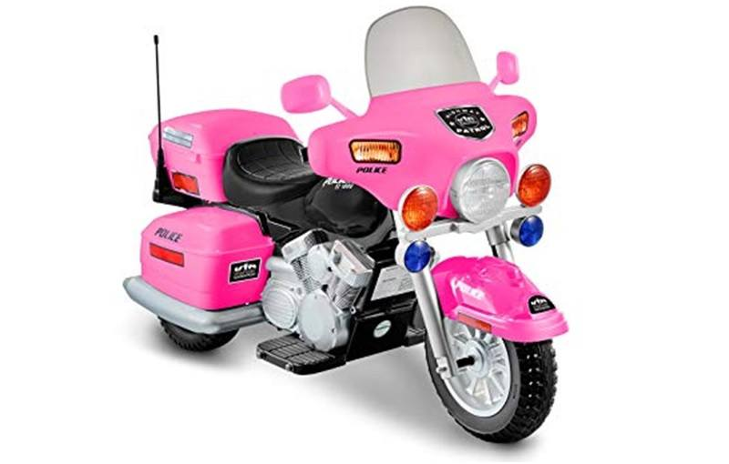 National Products 12V Police Motorcycle (Pink)