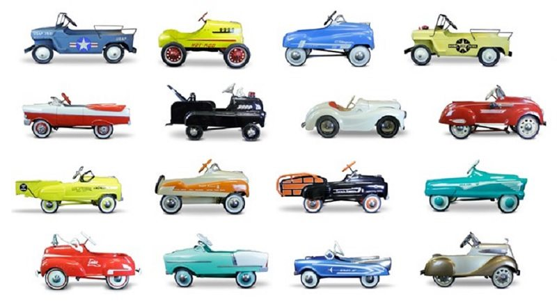 pedal cars collection
