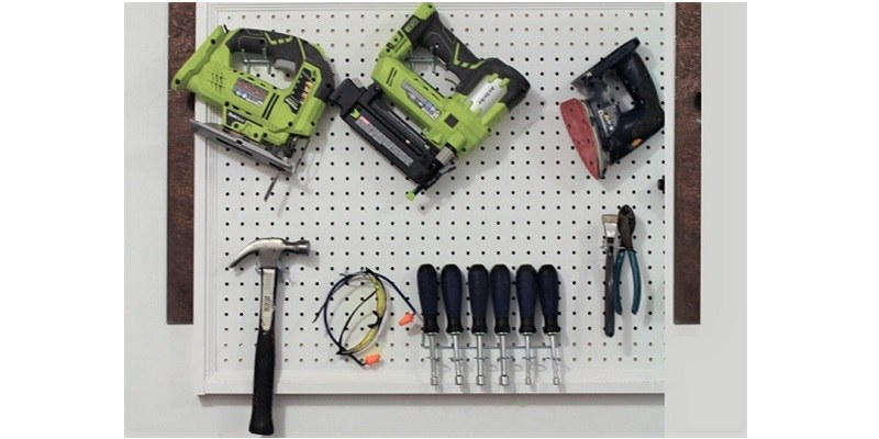 pegboard for hanging tools