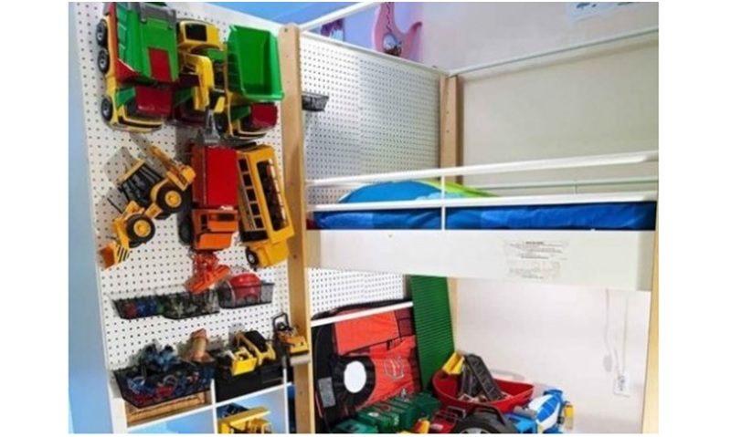 Pegboard Kids toy organizer