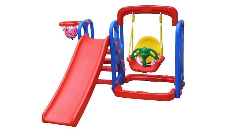 slide swing set for kids