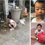 Child refuses to go to school, mom gives life lesson by making him pick up trash